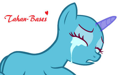 MLP BASE #33- When Girls Cry by Tahan-Bases