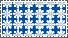 Blue Flower pattern stamp by sandwedge
