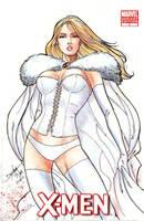 Emma Frost sketch by dexterwee