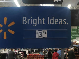 Bright Idea's Now At Walmart by flyingcentar3