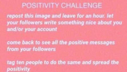 Positivity Challenge by flyingcentar3