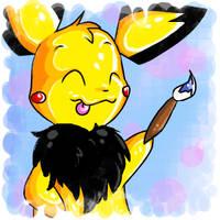 Artistic Pinkie Pichu by Pinkie-Pichu