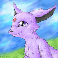 Espeon by Pinkie-Pichu