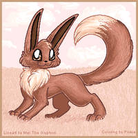..Sepia.Colored.Eevee.. by Pinkie-Pichu