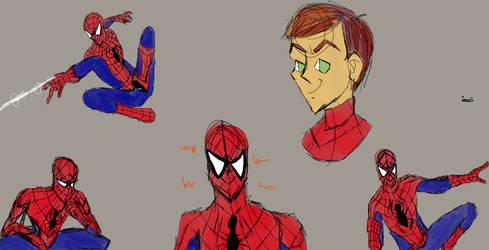 Spider-Man Sketches by hurremthecat
