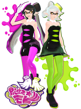 TDA Squid Sisters + DL Note by OzzWalcito
