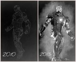 Ironman ( 2010 vs 2013 ) by Anubhavg
