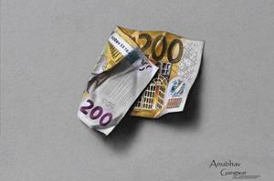 200 Euro Drawing by Anubhavg