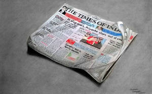 Times Of India Newspaper drawing by Anubhavg