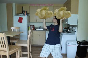 Big Food. Giant Popcorn fight by BigJaa