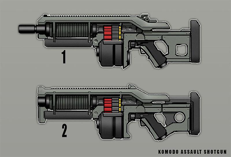 Komodo Assault Shotgun by dfacto