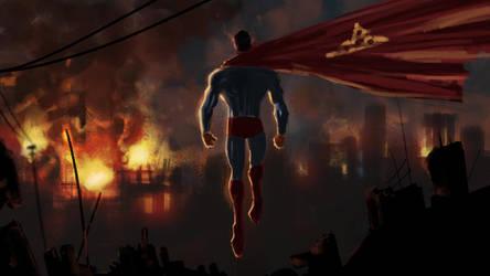 superman rising by Eliaskhasho