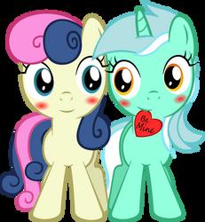 Filly Lyra 'n Bonbon by ArtPwny
