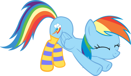 Rainbow Dashie in Socks by ArtPwny