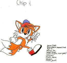 OC- Chip the Fox by Cyra-Art