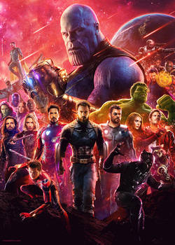 Avengers Infinity War Movie Poster by tyler-wetta