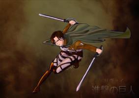 Levi Heichou - running! by Wakagi-chan