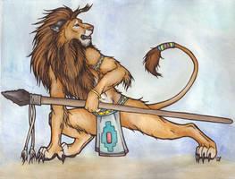 Hunting Lion by Rabastan