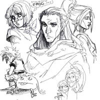 Chrono Trigger doodles by lastlabyrinth