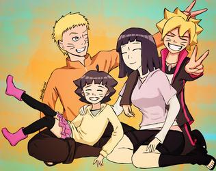 Uzumaki Family Portrait by noodlenini