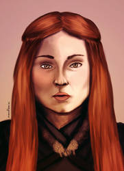The Lady of Winterfell by noodlenini