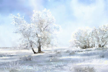 Landscape.Winter tree. ArtRage by alartstudio
