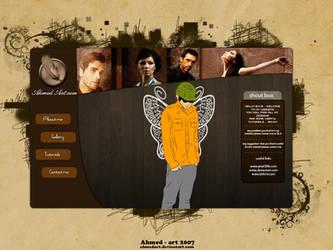 ahmedart dot com web layout by AhmedART