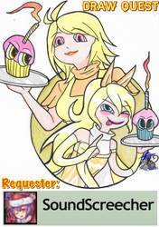 Draw Quest: SoundsScreecher's Cuphead Chicks by NightWitch14