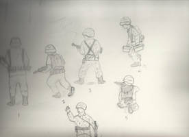 Soldier doodles by stepcode1994