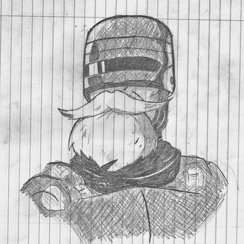Robo Cop with beard by stepcode1994
