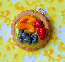 Clay Fruit Tart Charm by SolarCrush