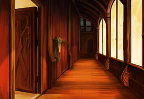 Le Guide du Voyageur Lubien - Corridor by purple-scales