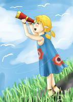 loz wind waker Aryll by NarutoxHinatafan