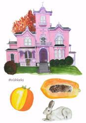 Pink house by VishKeks