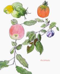 Fruits and Veggies by VishKeks