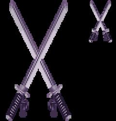 Pixel katanas by VishKeks