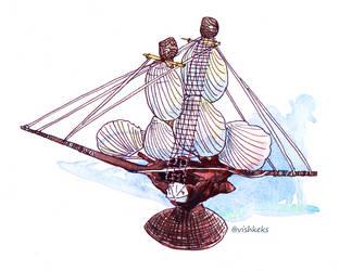 Shell ship by VishKeks