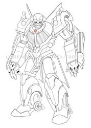 Que v2.0 lineart by Legend-of-Blackout