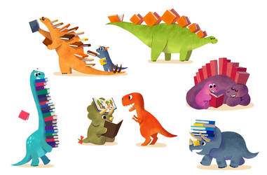 Book Dinosaurs by l3onnie