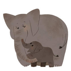 Elephant Mum by l3onnie