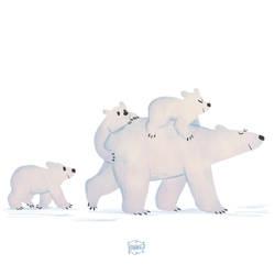 Polar Bear Mum by l3onnie
