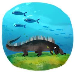 Marine Iguana by l3onnie