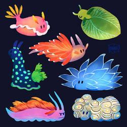 Sea Slugs by l3onnie