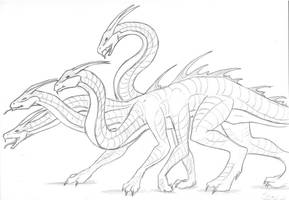 For Goddess-of-Time: Hydra by dragon-mystica