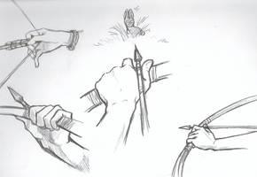 Hunter's hands -Study- by dragon-mystica