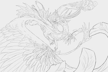 Gaurulth - Lineart by SamuraiDragon
