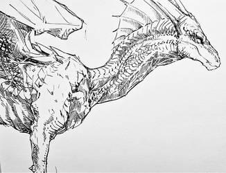 Dragon for Inktober by SamuraiDragon