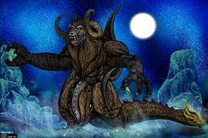 Bakan - Monkey God Beast Form for KaijuX by LucasCGabetArts