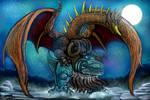 Demon God Bakan for KaijuX by LucasCGabetArts