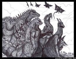 Kaiju of Monster Island by LucasCGabetArts
